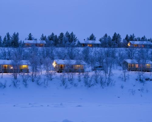 Holiday Village Valle Lomakylä Valle Restaurant Deatnu Utsjoki majoitus mökki