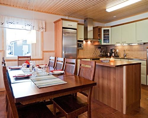 Holiday Village Valle Lomakylä Valle Utsjoki lappi majoitus lomahuoneisto keittiö