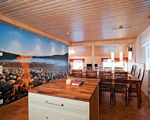 Holiday Village Valle Lomakylä Valle Utsjoki lappi majoitus lomahuoneisto olohuone