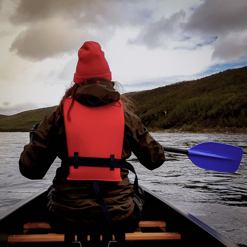 Canoe safari in the river teno