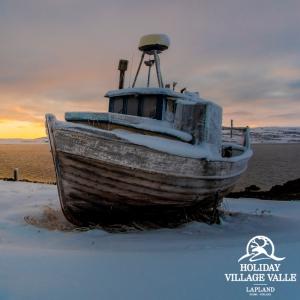 Holiday Village Valle Lomakylä Valle Utsjoki talviaktiviteetit retki Jäämerelle