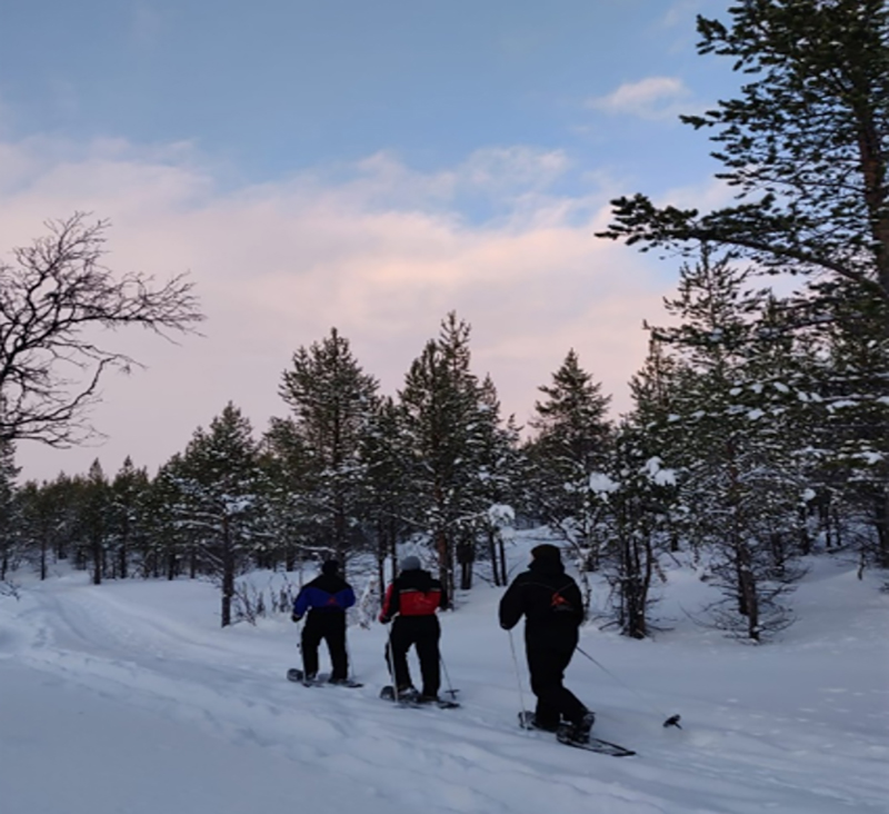 Snowshoeing into the silence