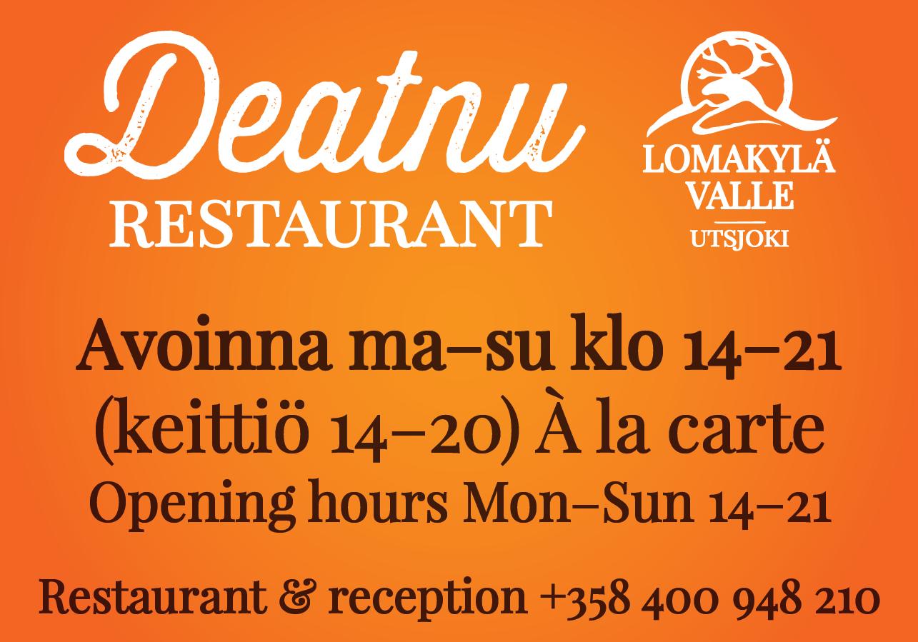 Holiday Village Valle Lomakylä Valle Restaurant Deatnu Utsjoki
